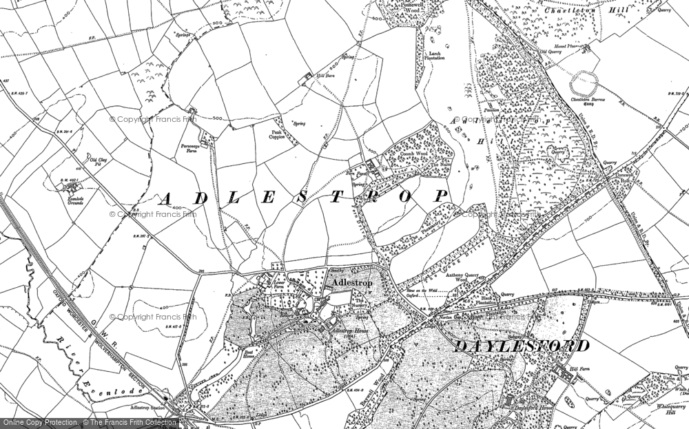 Old Map of Adlestrop, 1919 in 1919