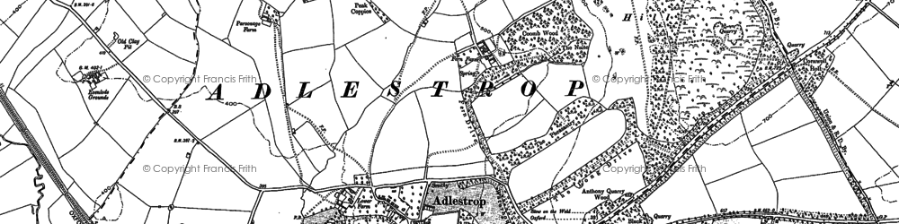 Old map of Adlestrop in 1919