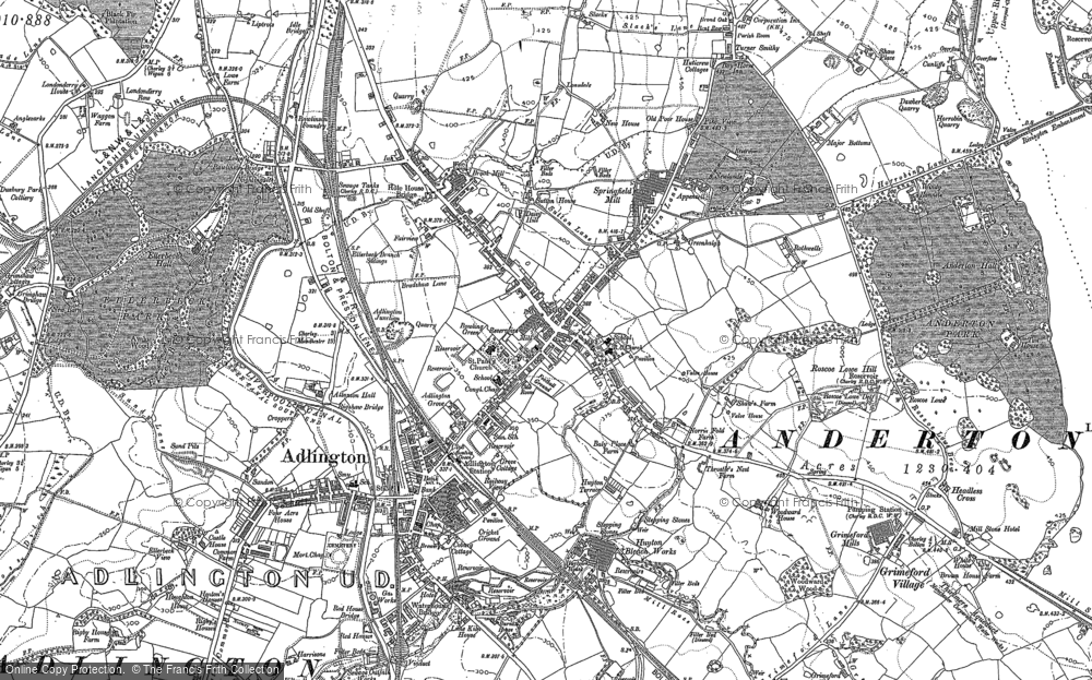 Old Map of Adlington, 1892 in 1892