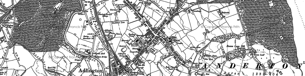 Old map of Adlington in 1892