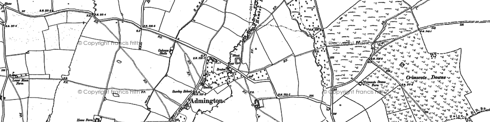 Old map of Admington in 1900