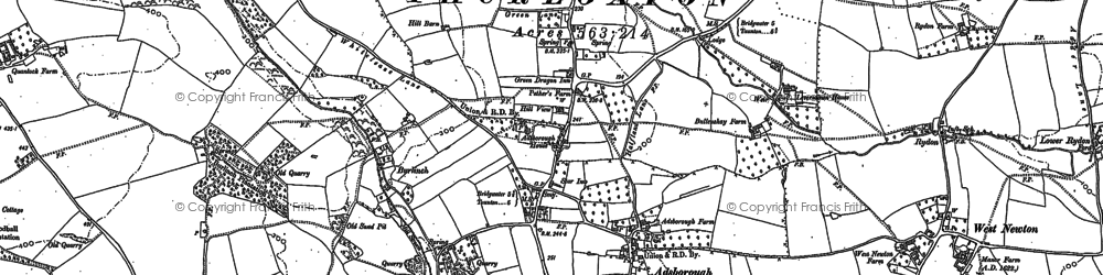 Old map of Adsborough in 1887