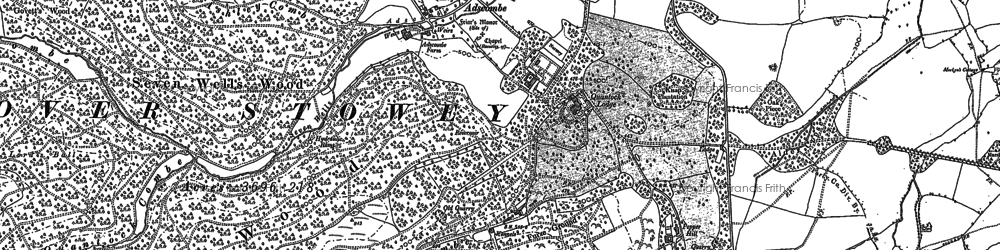 Old map of Adscombe in 1886