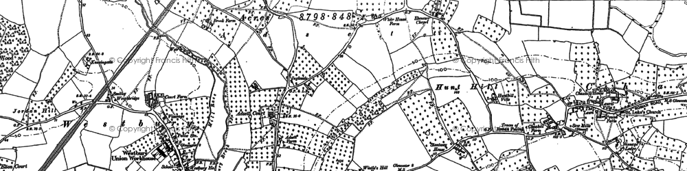 Old map of Adsett Court in 1879