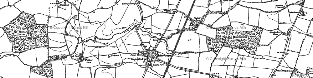 Old map of Adversane in 1896
