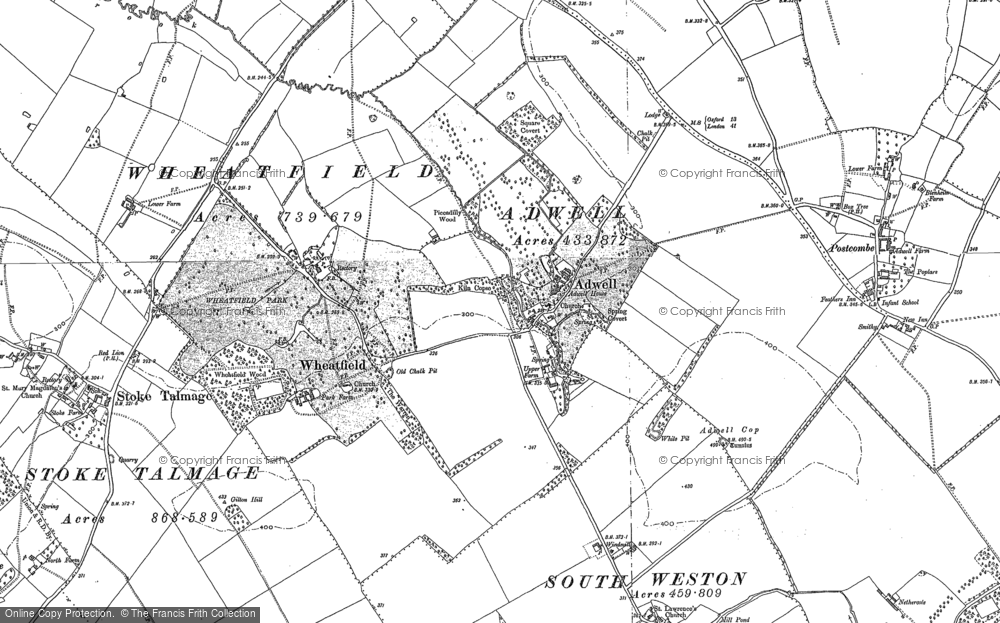 Old Map of Adwell, 1897 - 1919 in 1897
