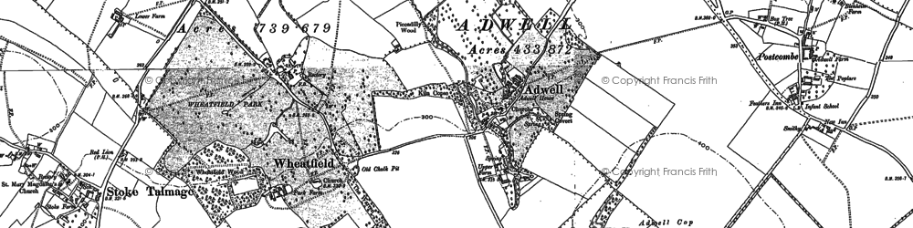 Old map of Adwell in 1897