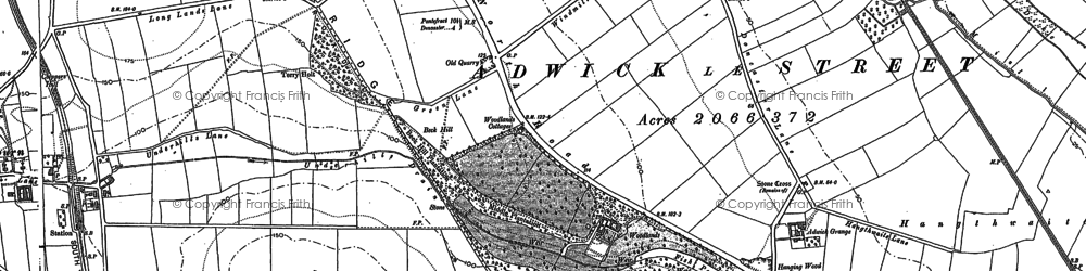 Old map of Adwick Grange in 1891
