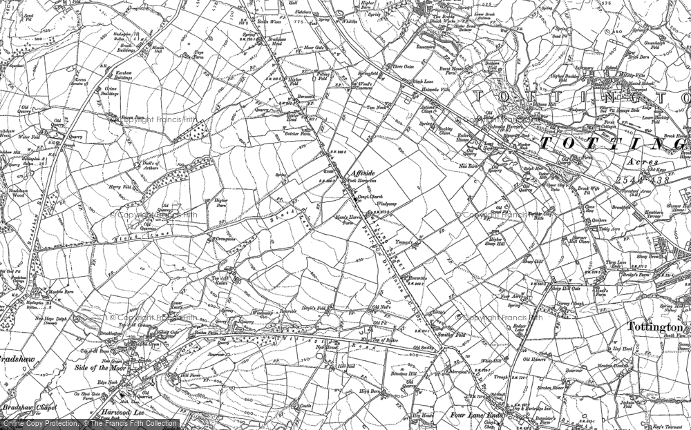 Old Map of Affetside, 1890 - 1891 in 1890