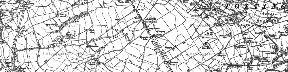 Old map of Affetside in 1890