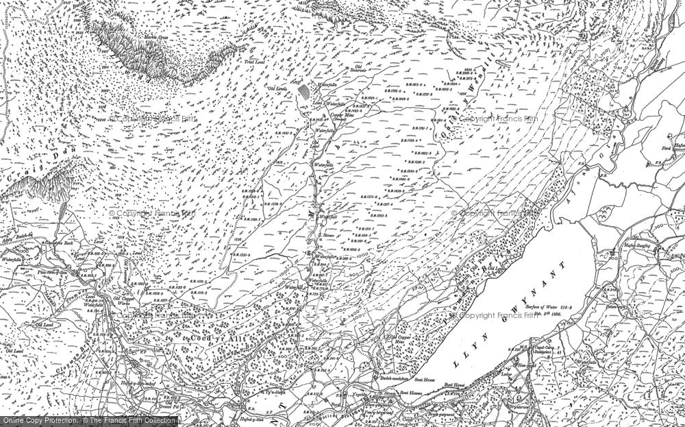 Old Map of Afon Merch, 1888 in 1888
