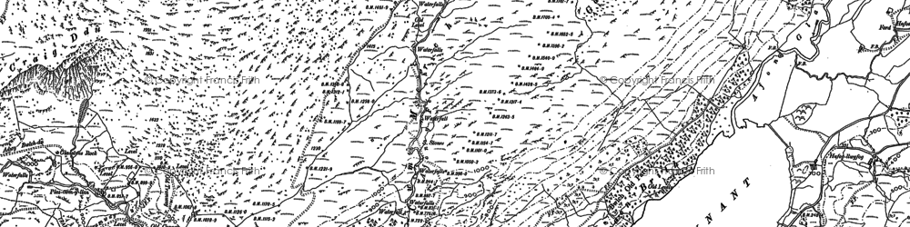 Old map of Afon Merch in 1888