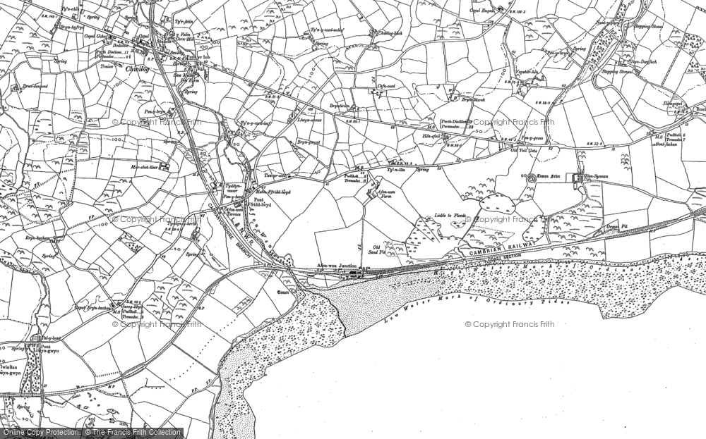 Old Map of Afon Wen, 1888 - 1899 in 1888