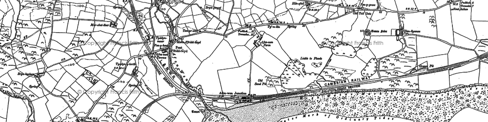 Old map of Afon Wen in 1888