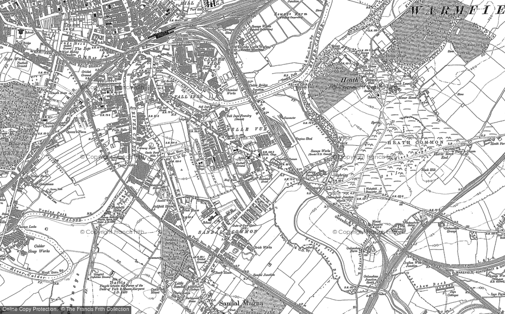 Old Map of Agbrigg, 1890 in 1890