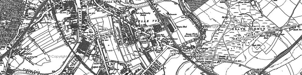 Old map of Agbrigg in 1890