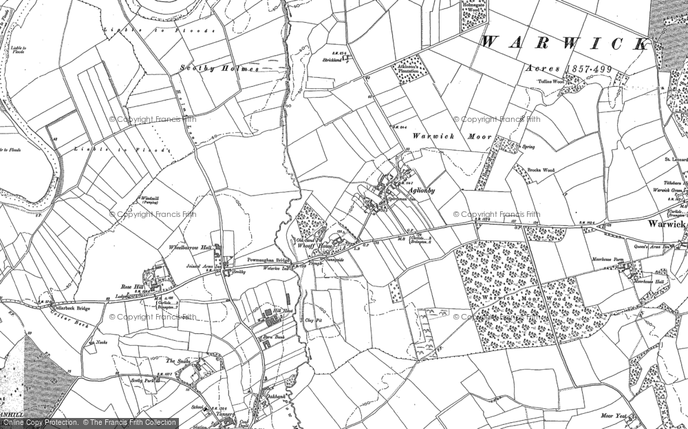 Old Map of Aglionby, 1888 - 1899 in 1888