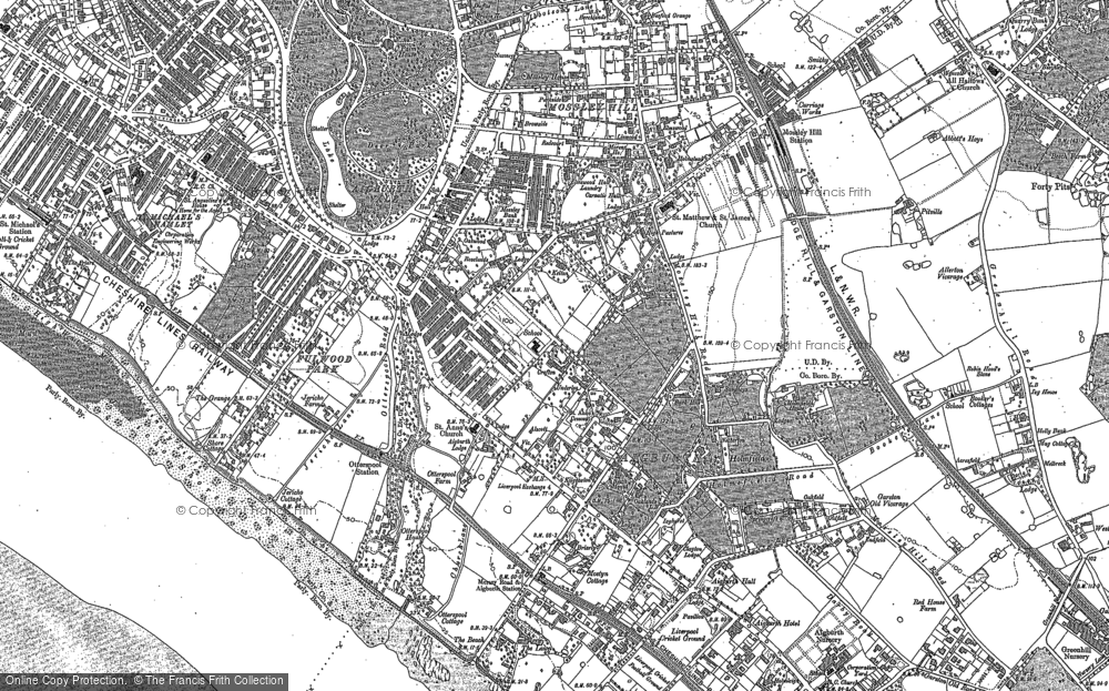 Old Map of Aigburth, 1905 - 1906 in 1905