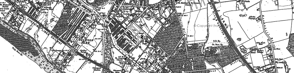 Old map of Aigburth in 1905