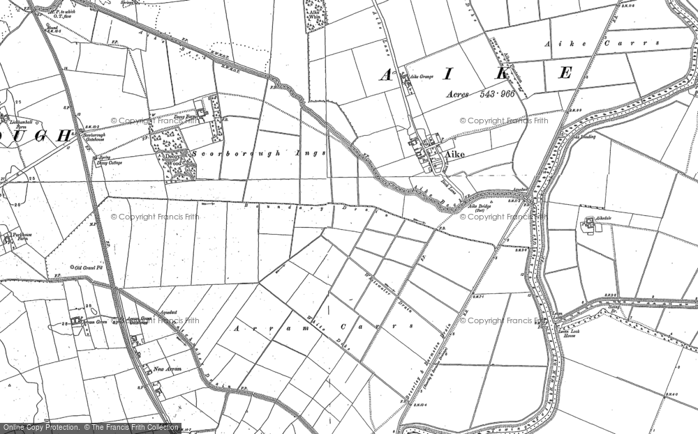 Old Map of Historic Map covering Leven Carrs in 1850