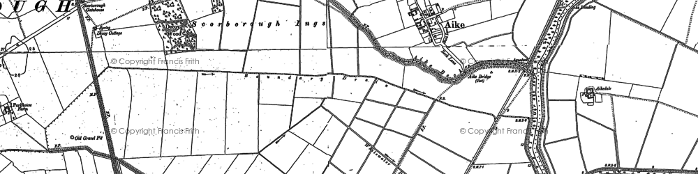 Old map of Aike Grange Stud in 1850