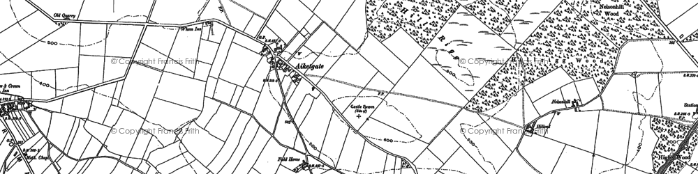 Old map of Aiketgate in 1899