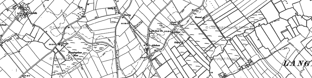 Old map of Aikshaw in 1899