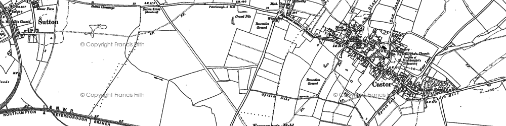 Old map of Ailsworth in 1899