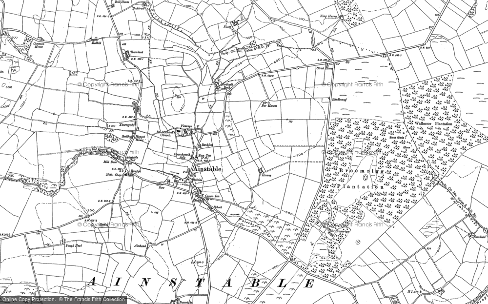 Old Map of Ainstable, 1898 - 1899 in 1898
