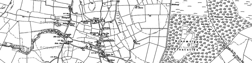 Old map of Ainstable in 1898
