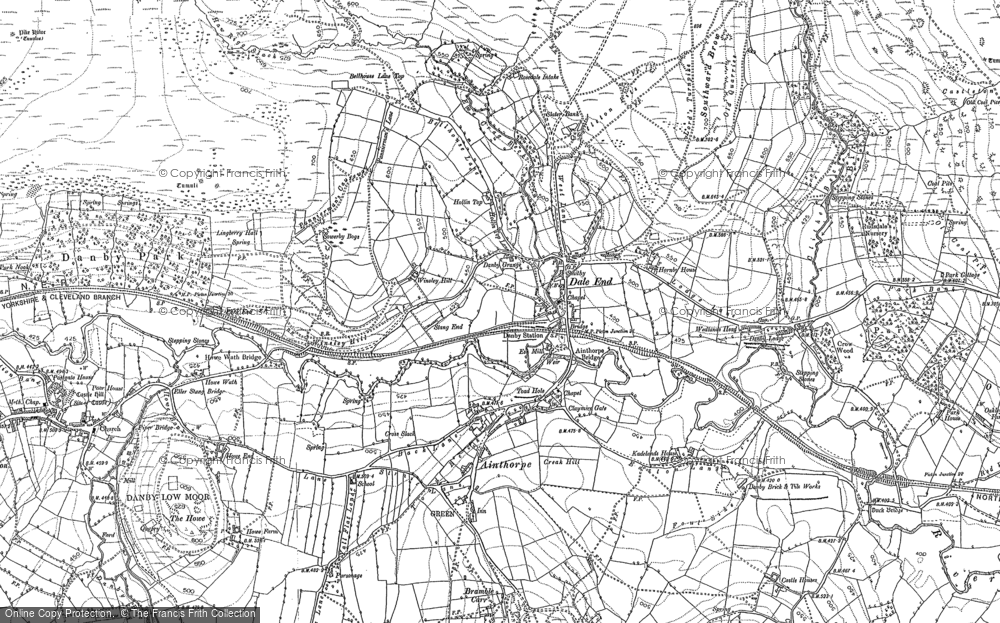 Old Map of Ainthorpe, 1892 in 1892