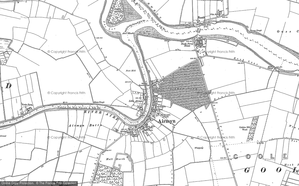 Old Map of Historic Map covering Airmyn Grange in 1888