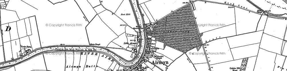 Old map of Airmyn Grange in 1888