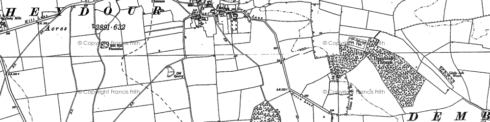Old map of Aisby in 1887