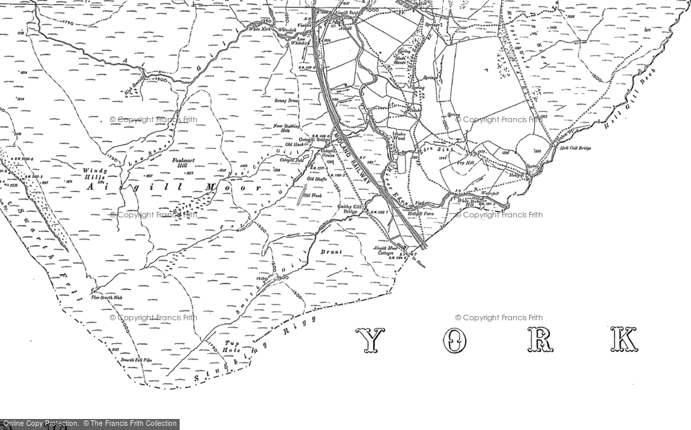 Old Map of Aisgill Moor Cotts, 1907 - 1910 in 1907
