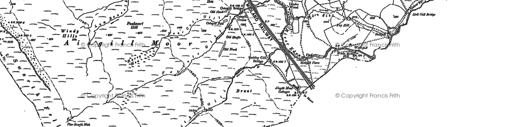 Old map of Aisgill Moor Cotts in 1907