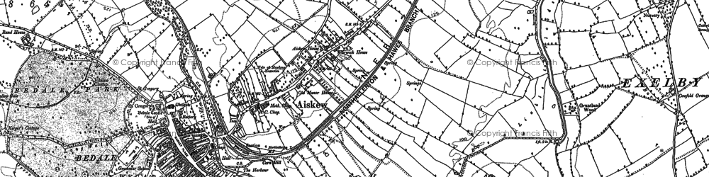 Old map of Aiskew Grange in 1890