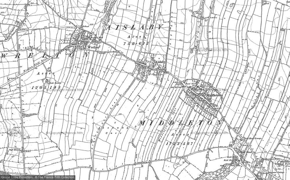 Old Map of Aislaby, 1890 in 1890