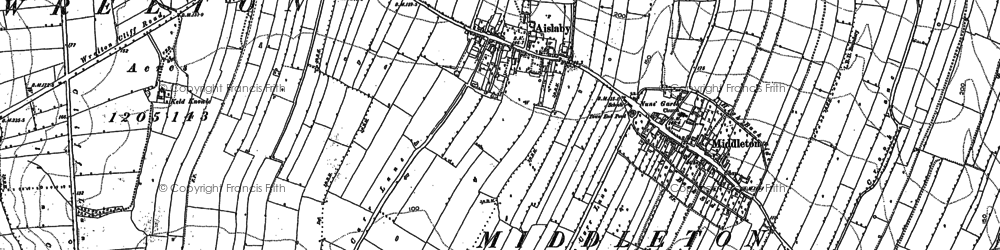 Old map of Aislaby in 1890