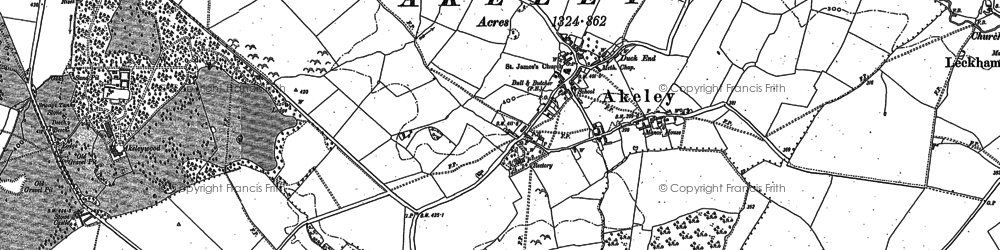 Old map of Akeley in 1899