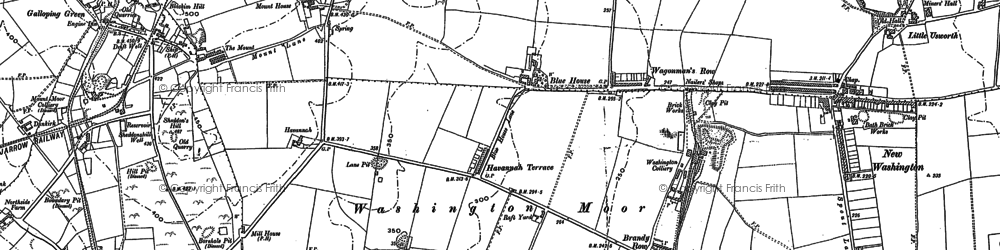 Old map of Albany in 1895