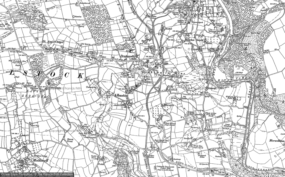 Old Map of Albaston, 1905 in 1905