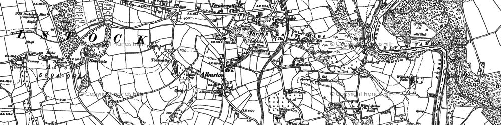 Old map of Albaston in 1905
