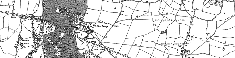 Old map of White Abbey in 1881