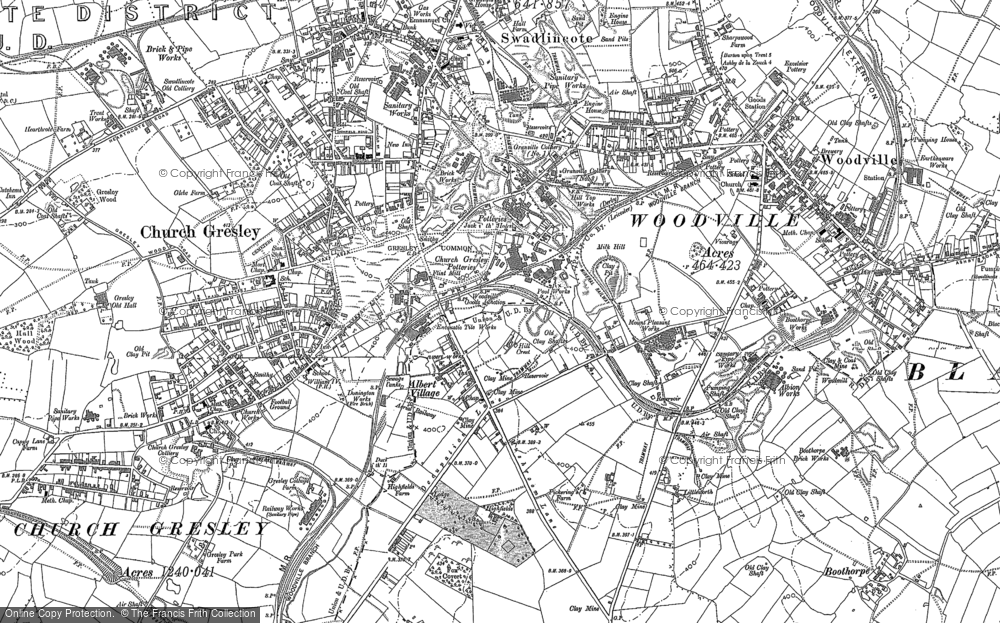 Old Map of Albert Village, 1900 - 1901 in 1900