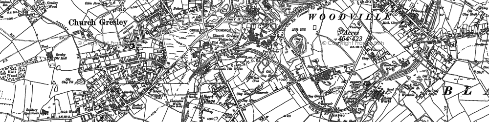 Old map of Albert Village in 1900
