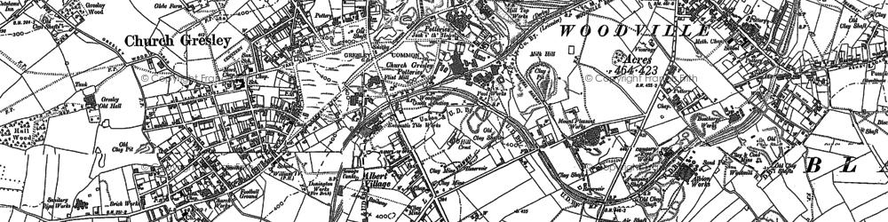 Old map of Albert Village in 1900