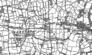 Old Map of Albourne, 1896