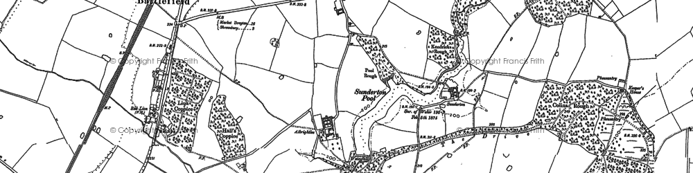 Old map of Albrightlee in 1881