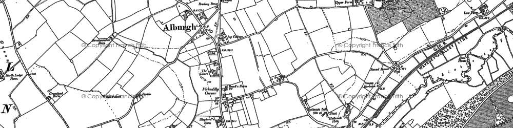 Old map of Alburgh in 1883